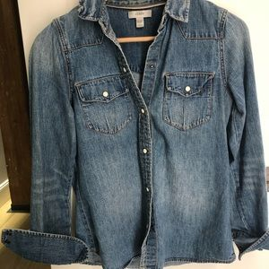 Perfectly worn in denim shirt